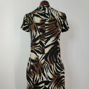 Muse Dresses - Muse Woman Stretch Short Sleeve Dress Size 8 Brown